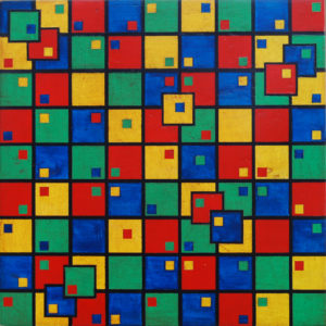 Combinazione ritmica 29,5x29,5 acrilico su tavola - MARCO DE BIASI