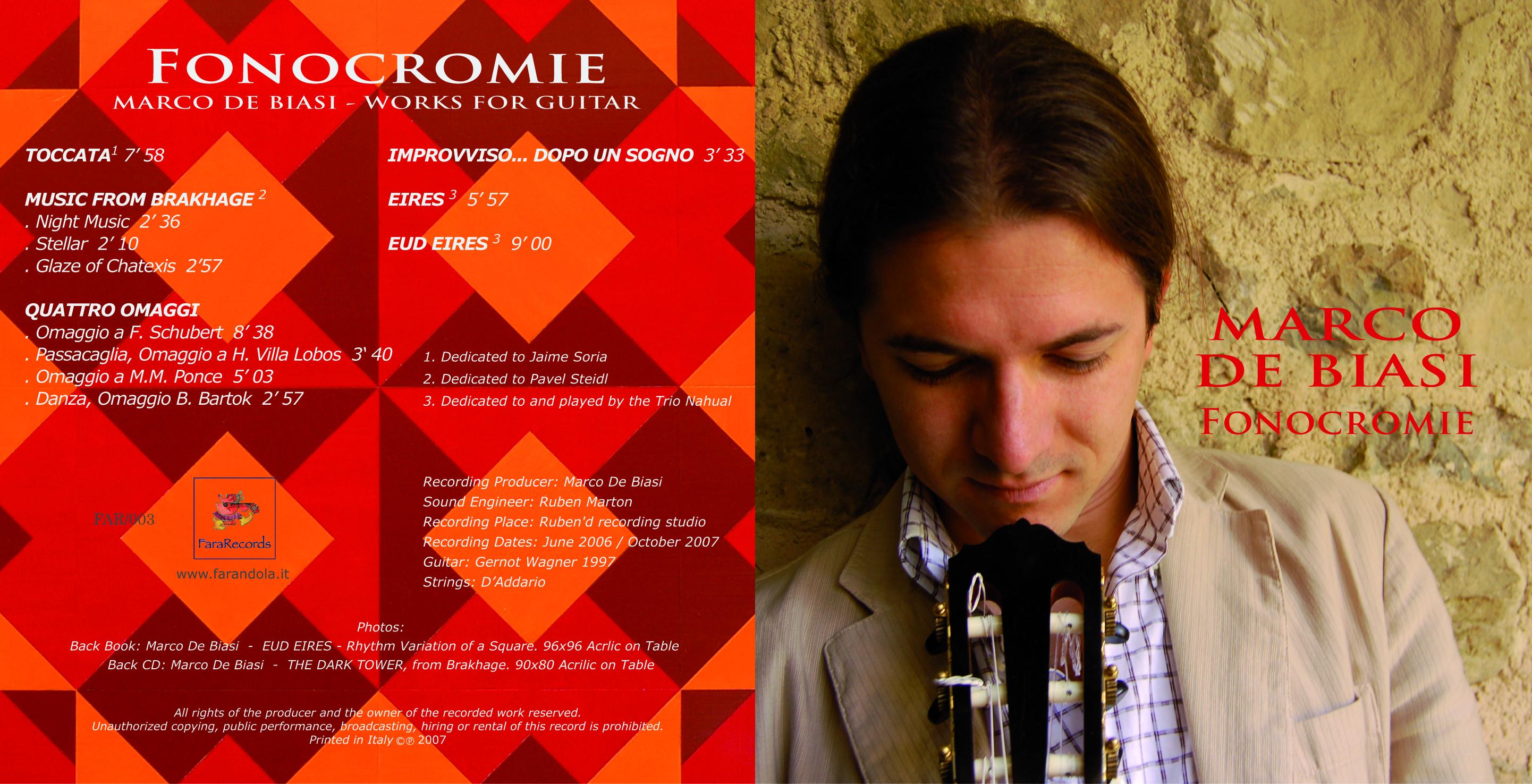 fonocromie - marco de biasi booklet
