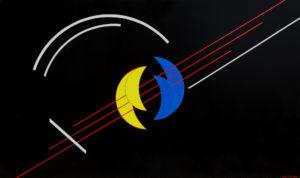 Chitarra fonocromatica Acrilico su tavola 70x120 - MARCO DE BIASI
