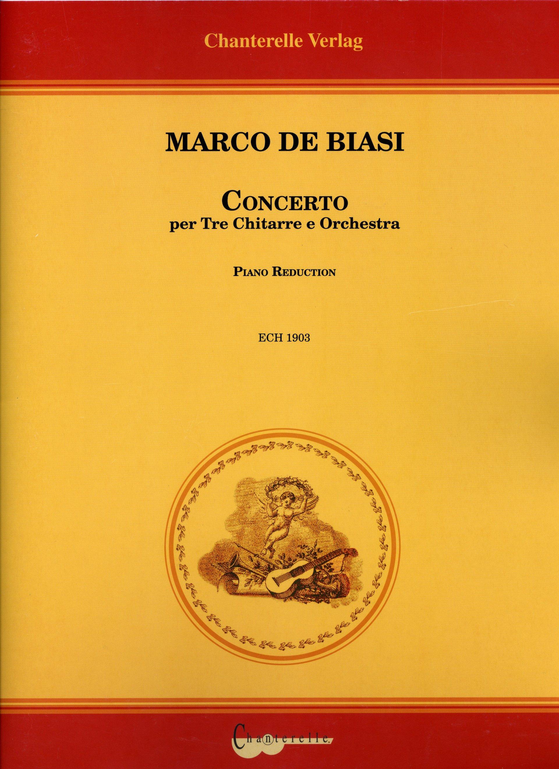 COPERTINA CONCERTO PER TRE CHITARRE E ORCHESTRA - MARCO DE BIASI