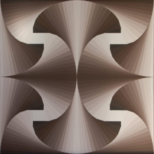 Cono D'ombra n°1 60x60 Acrilico su tela - MARCO DE BIASI