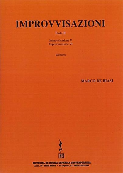 COPERTINA IMPROVVISAZIONI PARTE II - MARCO DE BIASI