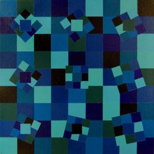 Labirinto n1 27x27 Acrilico su tavola - MARCO DE BIASI