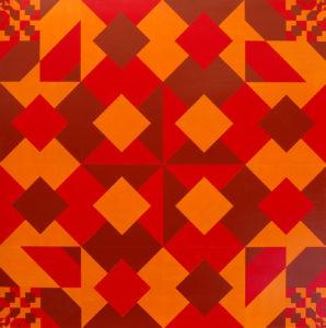 Eud Eires – variazione ritmica di un quadrato Acrilico su tavola 96x96 - MARCO DE BIASI
