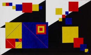 Omaggio a Kandinsky 168x102 Acrilico su tavola-MARCO DE BIASI