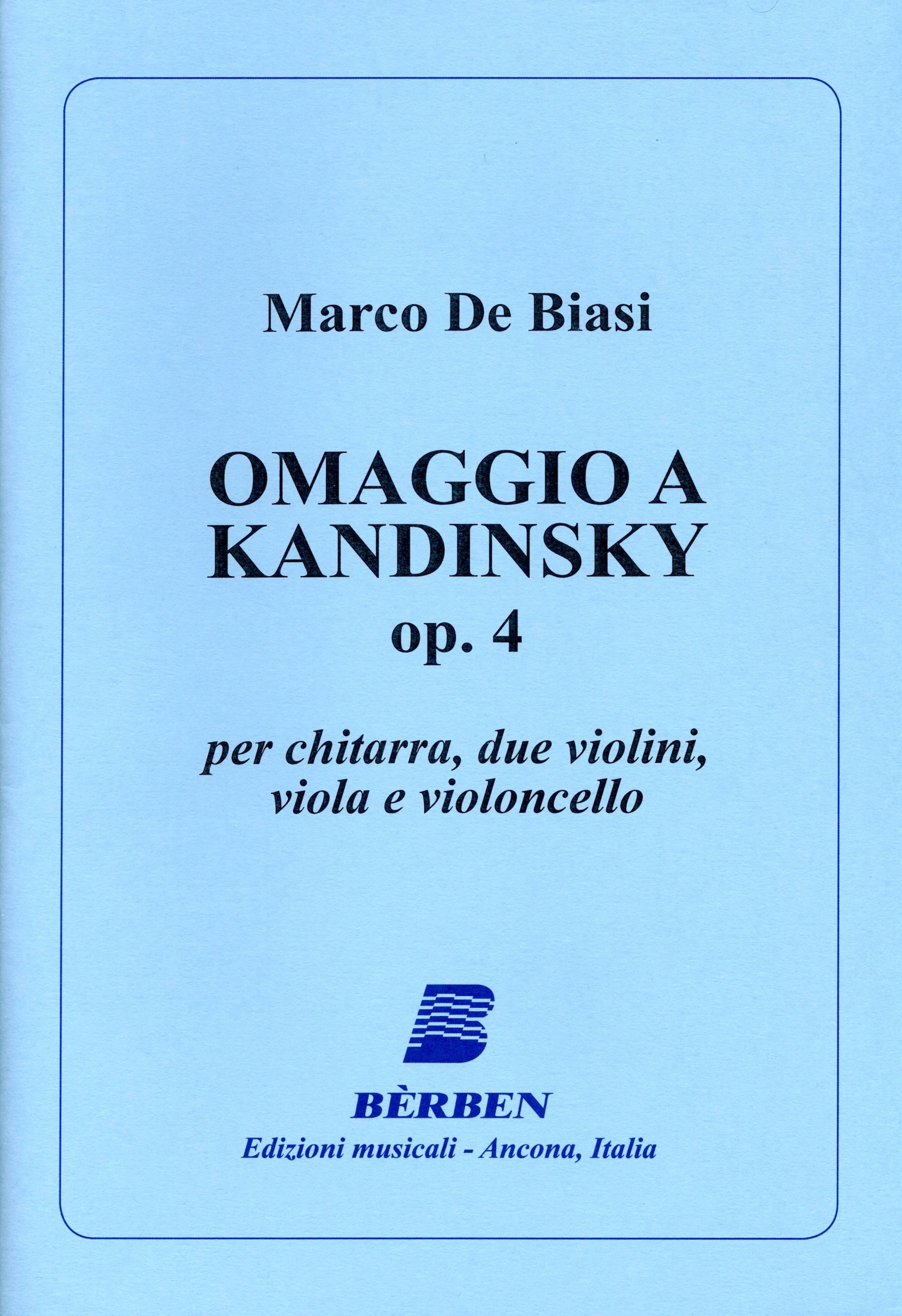 COPERTINA OMAGGIO A KANDINSKY - MARCO DE BIASI