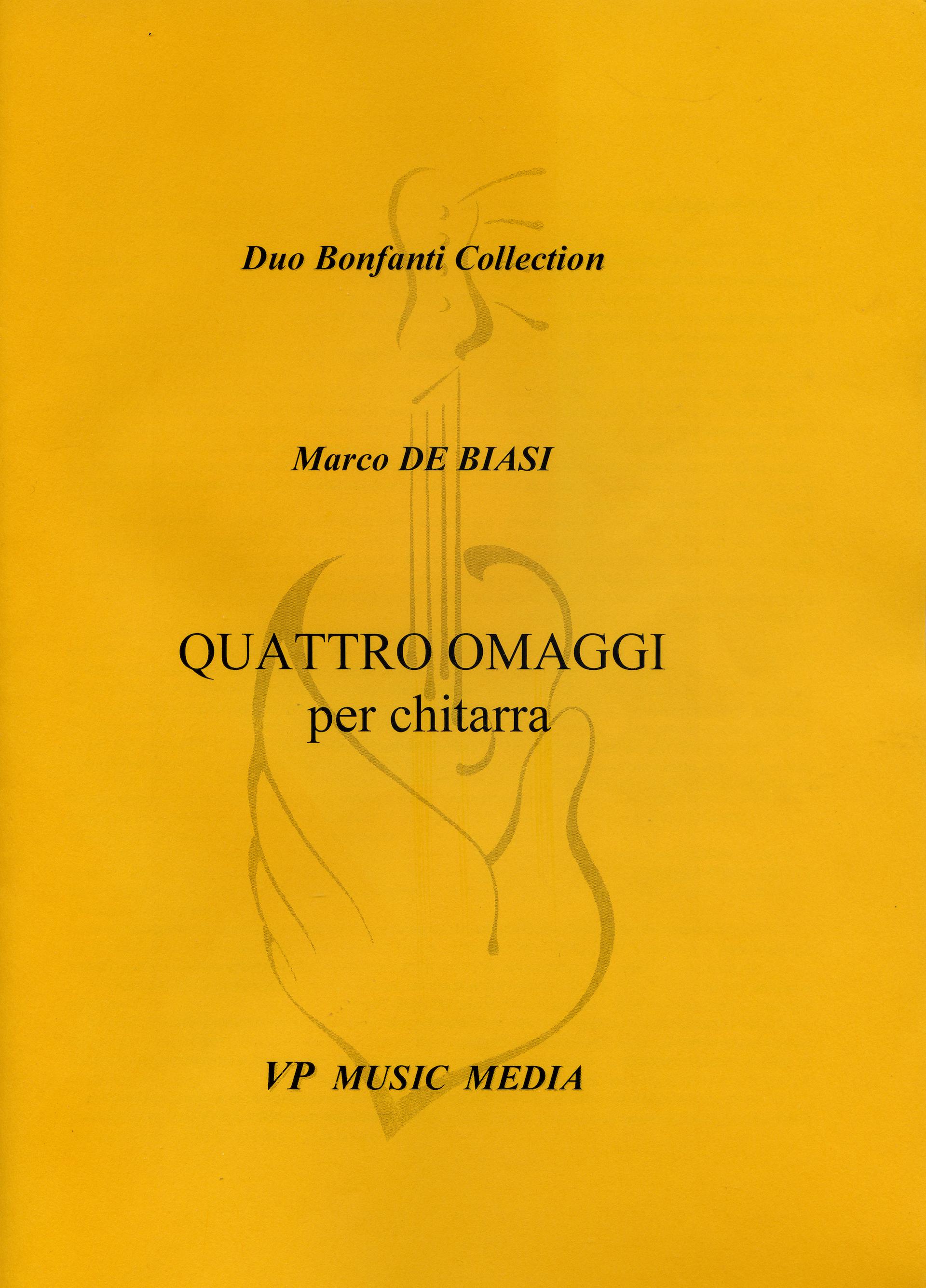 COPERTINA QUATTRO OMAGGI - MARCO DE BIASI