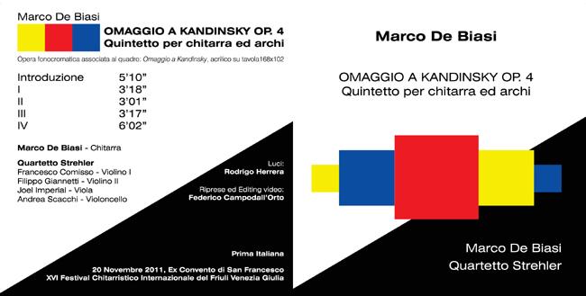 OMAGGIO A KANDINSKY - MARCO DE BIASI BOOKLET