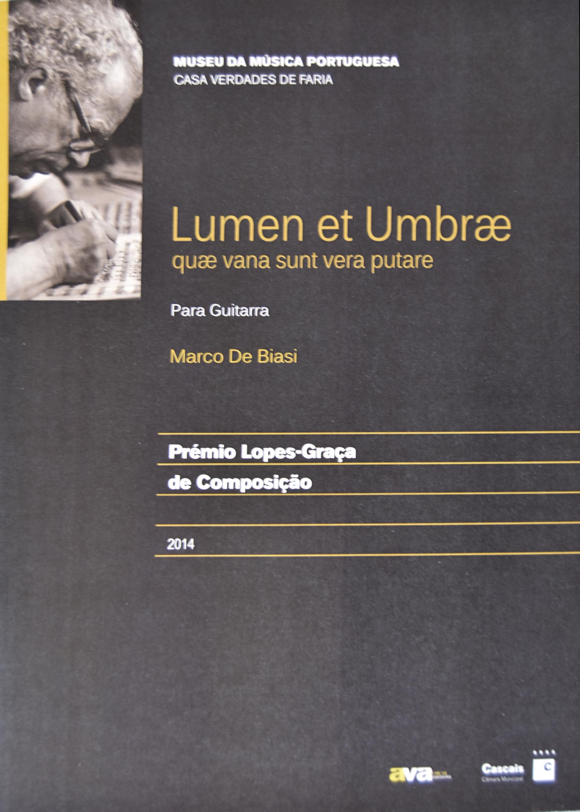 COPERTINA LUMEN ET UMBRAE - MARCO DE BIASI